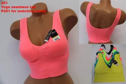 Pack Viola/'s Lot Zumba Dance Class Gym Yoga Seamless Sports Tank Top Bra S//M//L