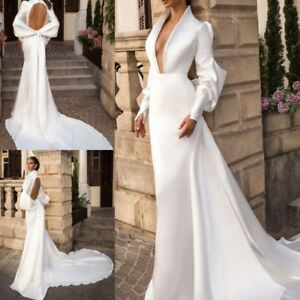 Details about Cheap White Ivory Wedding Dresses Bridal Gowns Plus Size 0 4  8 12 16 18 20 22 24