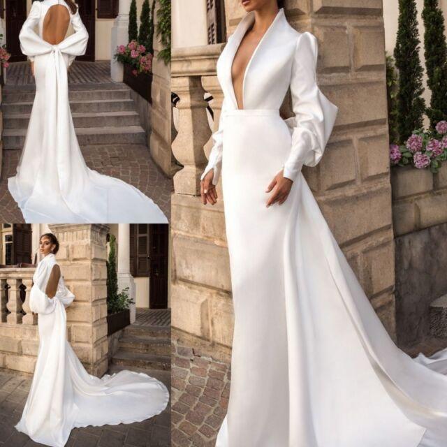 White Ivory Simple Cheap Wedding Dresses A Line Plus Size 0 4 6 8 10