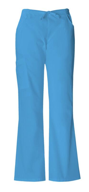 Dickies Malibú Azul Ropa Quirúrgica Pantalones Cargo De Campana Pierna Médico