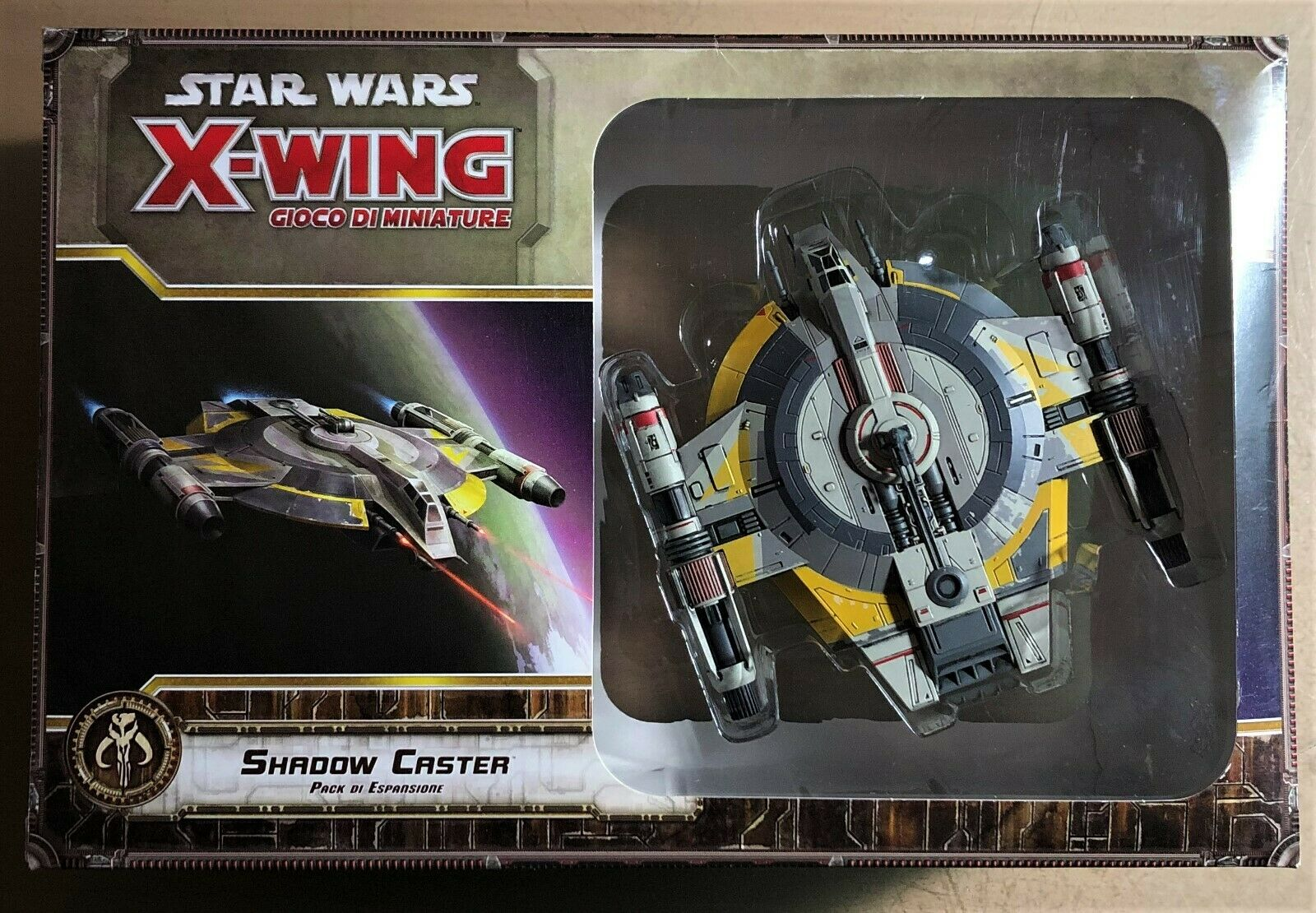 STAR WARS MINIATURES GAMES X-WING - SHADOW CASTER ESPANSIONE - NUOVO