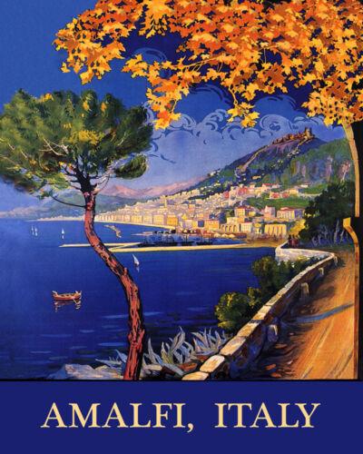 Amalfi Salermo Italy Coast Beaches Italia Italian Vintage Poster Repo FREE S//H