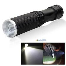 7W CREE XPE-Q5 LED 14500 AA Mini Flashlight Torch Lamp Light Black MT