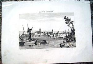 1836-INCISIONE-CON-VEDUTA-DI-BASILEA-IN-SVIZZERA