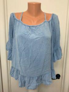 Style-Envy-Blue-Cold-Shoulder-Top-Rayon-Boho-xl