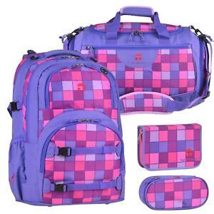 schulrucksack schulranzen m dchen ab 4 klasse lila pink. Black Bedroom Furniture Sets. Home Design Ideas