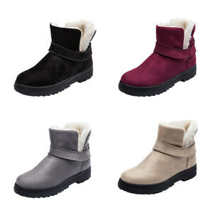 ba00c577d39 Women Girl Winter Snow Boots Warm Cotton Velvet Shoes Waterproof ...