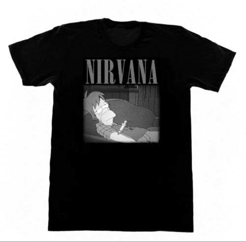 Nirvana Heroin Homer Tshirt 211 T-Shirt Drugs Cocaine Dope Grunge Subpop