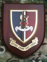 Royal Army Pay Corps Wall Plaque Regimental Mess Shield