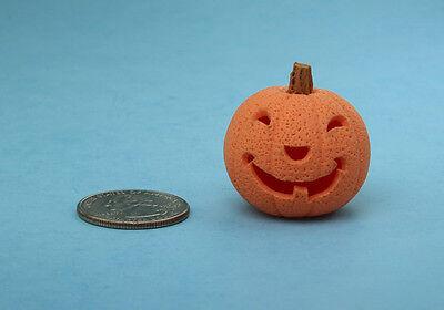 CUTE 1:12 Scale Dollhouse Miniature Carved Halloween Jackolantern Pumpkin #HOP10