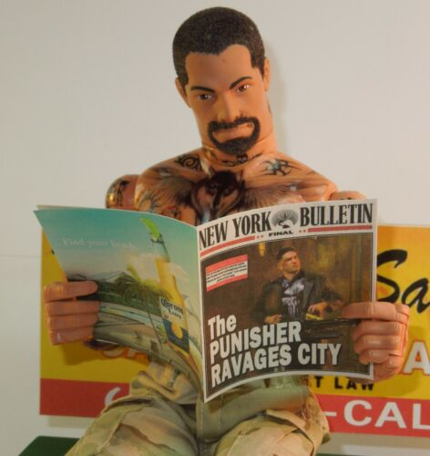 Ravages City 1//6 Scale Custom New York Bulletin #6 for Hot Toys Punisher