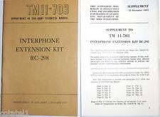 TM11-703 Interphone extension kit RC-298 for tank - NOS