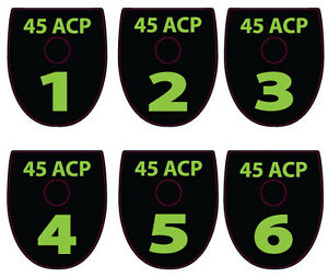 FITS SIG P320 P250  40 CAL MAGAZINE BASE PLATE STICKERS LIME Set of 6