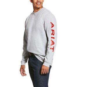 Ariat® Men/'s FR Pocketed Logo Black Long Sleeve T-Shirt 10023948