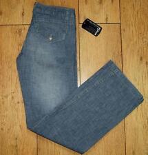 "Bnwt Women's Oakley Stretch Jeans Size UK 6 L32"" Loose Fit Statue Pant Blue"