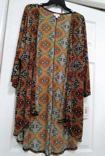 grande Taglia Nwt Cardigan donna multicolore Lindsay Lularoe Kimono Op4wSfa1q