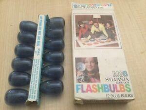 Vintage Sylvania Blue Dot Flashbulbs M3B 12 Bulbs Kodak flash bulbs M2B  + Extra