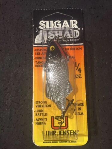 Luhr Jensen Sugar Shad 1//4 Oz Silver Black Top