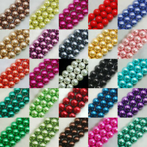 100pcs-Top-Quality-Czech-Glass-Pearl-Round-Beads-3mm-4mm-6mm-8mm-10mm-12mm