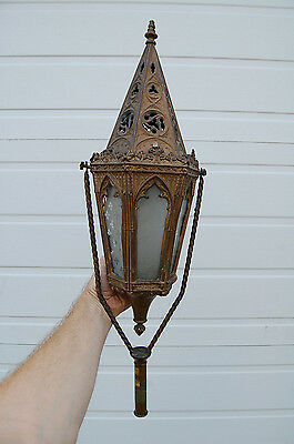 + Old Ornate Gothic Lantern Torch, Processional Candlestick + chalice co. (#976)