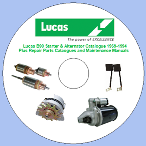 Details about Lucas B90 Starter & Alternator Catalogue 1969-1994 Plus  Repair Parts Cataogues