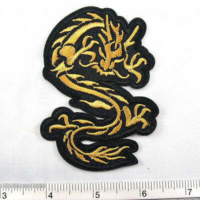 """Dragon Lucky Symbol Car embroidered iron on patches appliques 2.25x3.5/"""" Red"""