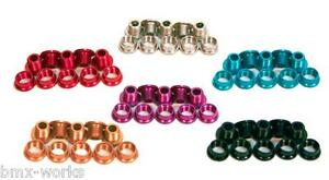 Alloy-Coloured-amp-Steel-Chrome-Chain-Wheel-Bolts-Sets-of-5-Old-School-BMX