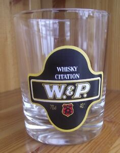WHISKY CITATION W amp P WampP GLASS HEIGHT 3½ INCHES 9CM - Lutterworth, Leicestershire, United Kingdom - WHISKY CITATION W amp P WampP GLASS HEIGHT 3½ INCHES 9CM - Lutterworth, Leicestershire, United Kingdom