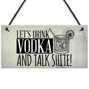 Lets-Drink-Vodka-Funny-Alcohol-Gift-Man-Cave-Home-Bar-Hanging-Plaque-Pub-Sign