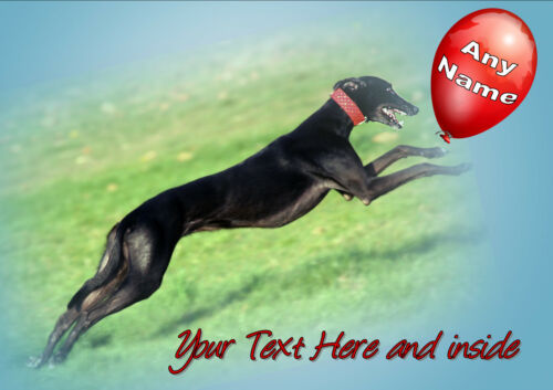 illus insert PERSONALISED GREYHOUND LURCHER WHIPPET BIRTHDAY ANY OCCASION CARD
