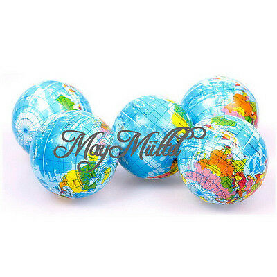 World Atlas Geography Map Earth Globe Stress Relief Bouncy Foam Ball Toy G