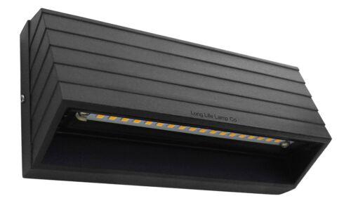 Lumière LED moderne mur bas ou surface mount lumière noir mat en blanc chaud