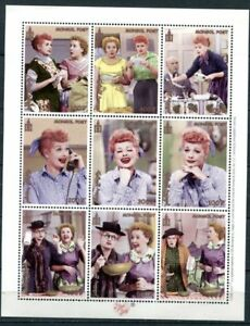 Magnificent Mongolia 2000 Lucille Ball I Love Lucy Postage Stamps