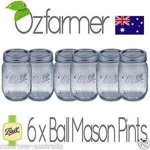 6-x-Ball-Mason-Pint-500ml-Jars-Lids-Preserving-Canning-Candle-Weddings-BPA-Free