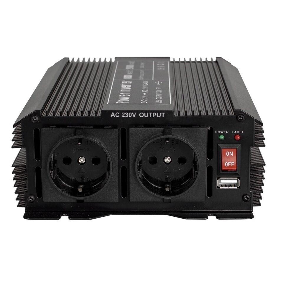 Transformer 12 V jævnstrøm til 230 V 1000 W..., TecTake