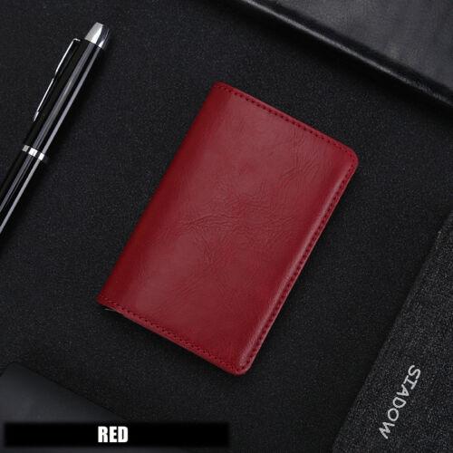 Auto Credit Card Holder RFID Blocking Pop-up Wallet Leather Metal Money Clip