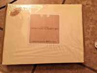 New Twin/Twin XL Sheet Set - Ivory 300 Thread Count Cotton