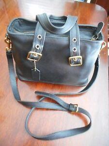 35c45c214a1a9 Image is loading Vintage-Coach-Black-Leather-Cross-Body-Shoulder-Handbag-