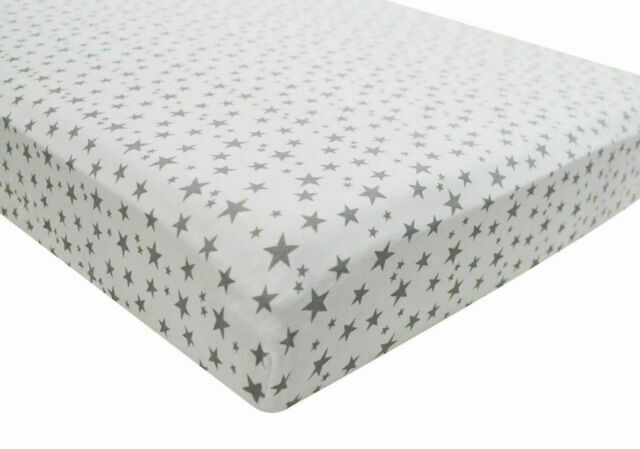 1x Cot Bed 100/% Cotton Jersey Fitted Sheet 140 x 70 cm White