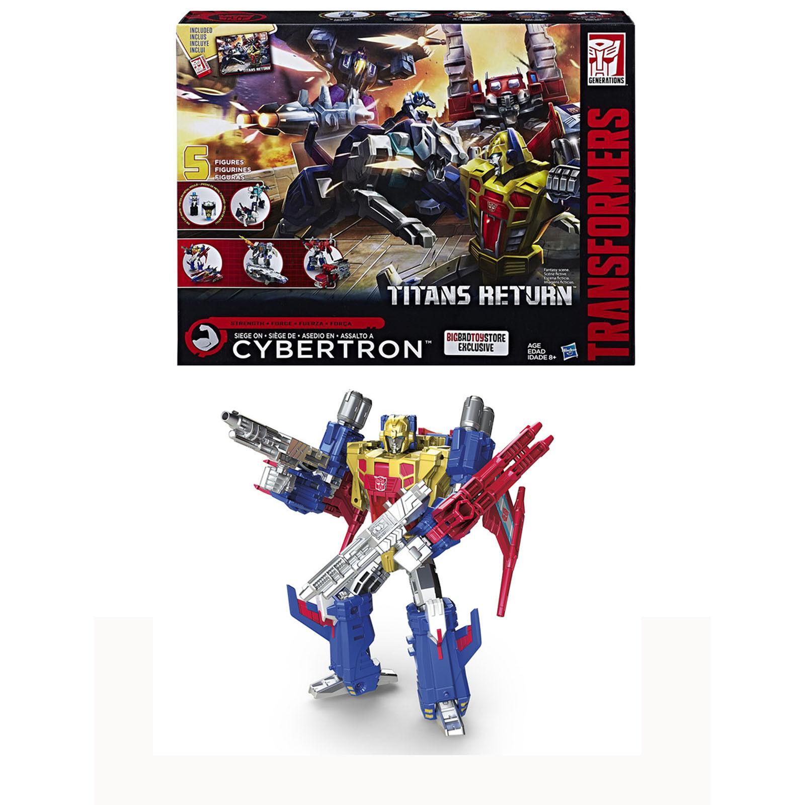 Transformers Titans Return SIEGE ON CYBERTRON 5 Figures Gift Robots Toy X-mas