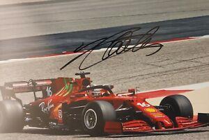 CHARLES LECLERC Ferrari 2021 F1 Foto 20x30 signiert IN PERSON Autogramm signed 6