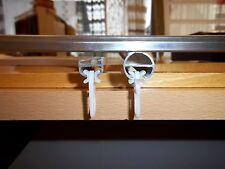 X-Gleiter Gardinengleiter für Aluschiene Innlaufschiene 20 Stück mit Faltenhaken