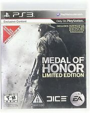 Medal of Honor -- Limited Edition (Sony PlayStation 3, 2010) 106851-2 (J) BY8A
