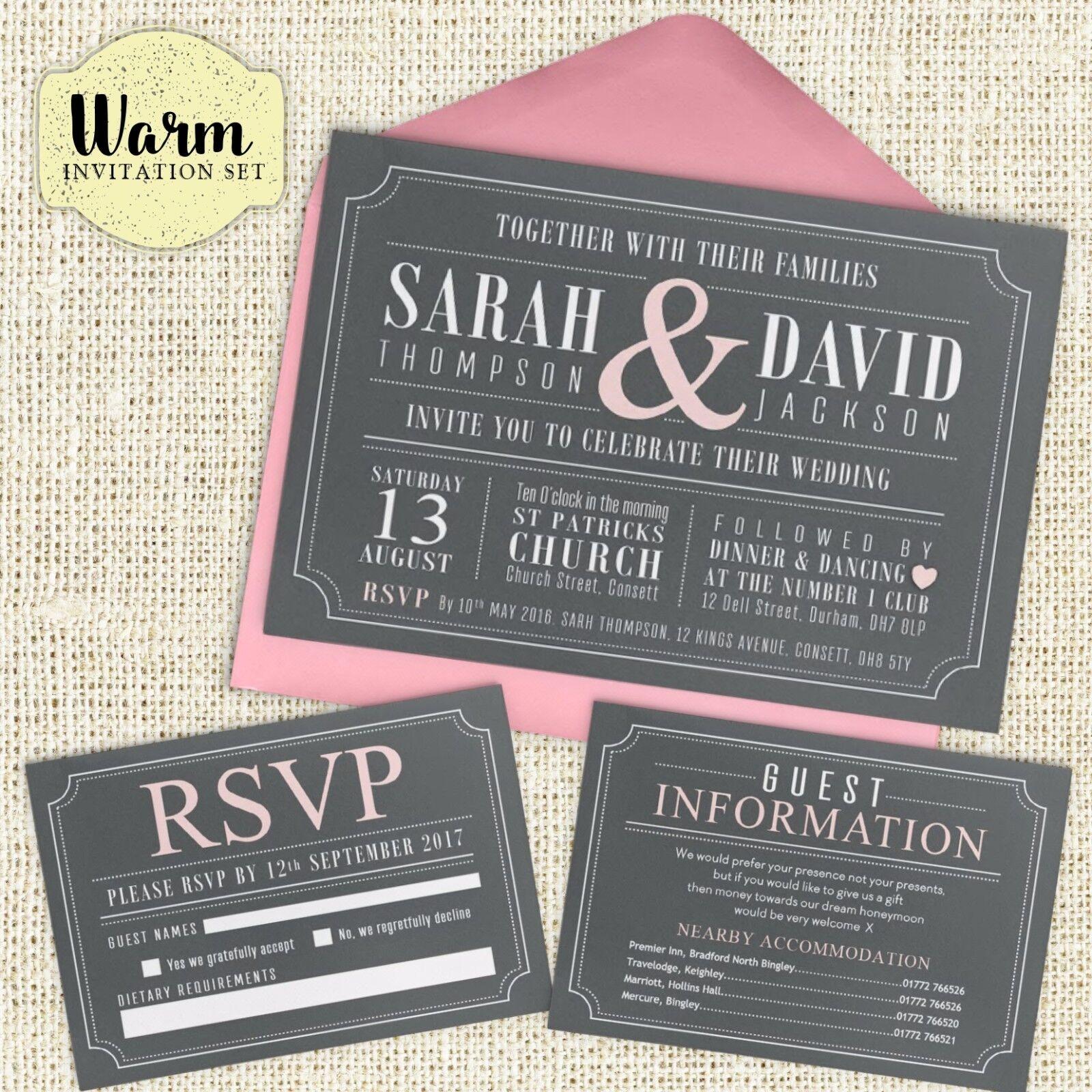 Mariage/Soirée invitation Set, RSVP cartes, Cartes Poème Cartes cartes, Informations et cartes 8f2514