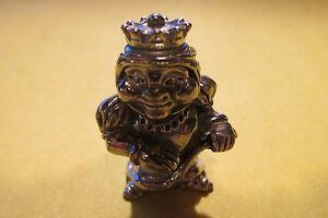 Pewter Elf Gnome Pixie On A Snail Figurine