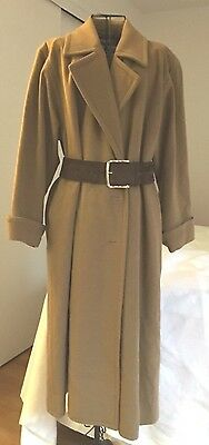 VTG 70'S YVES SAINT LAURENT OVERSIZED OLIVIA POPE-ESQUE CAMEL KHAKI COAT EUC