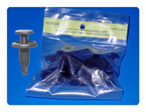 Honda 30 Pcs Push Retainers Hole 8MM Head 18MM Stem 21MM  90505-SM4-003 Fits