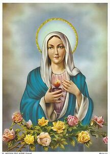 Catholic-Print-Picture-Immaculate-Heart-of-Mary-CRYING-71-2x10-034-ready-to-frame