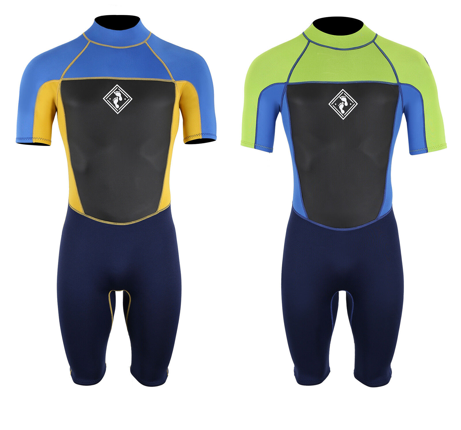Two Bare Feet Mens Squadron 3 2mm Shorty Wetsuit Flexible Warm