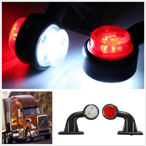 2pcs 10-30V LED Truck Trailer Lorry Side Marker Lamp Indicator Lights Red White